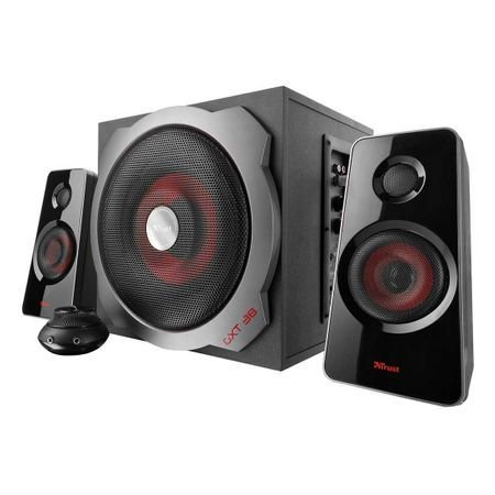 тонколони TRUST GXT 38 Subwoofer Speaker Set, 60W, 3.5mm jack, 3.5mm jack, черни